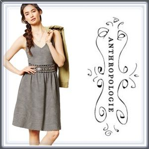 Anthropologie Messina Striped Gray Dress